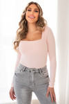 Basic stretch top Daisy pink