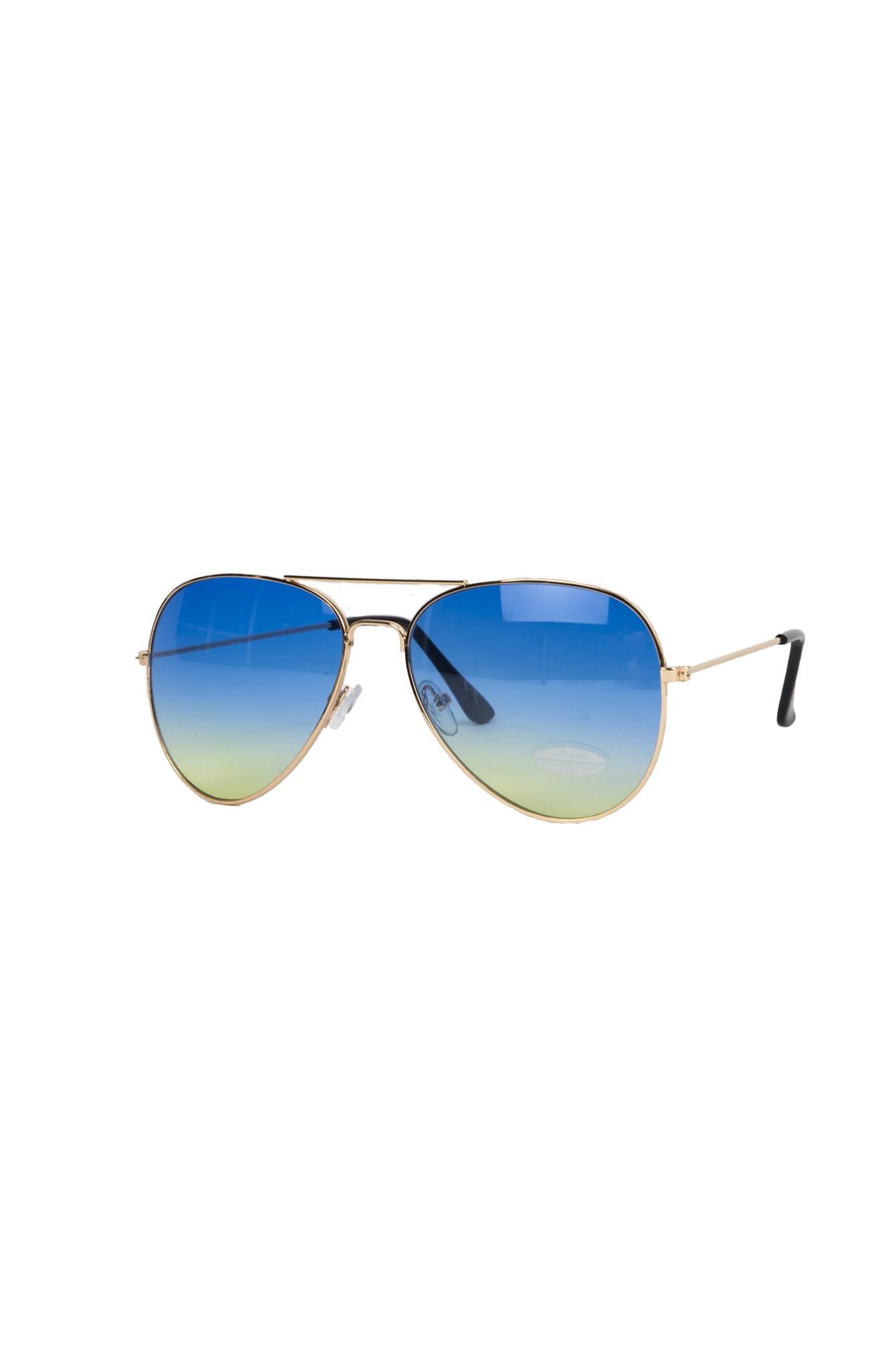 Zonnebril Jill blauw-geel