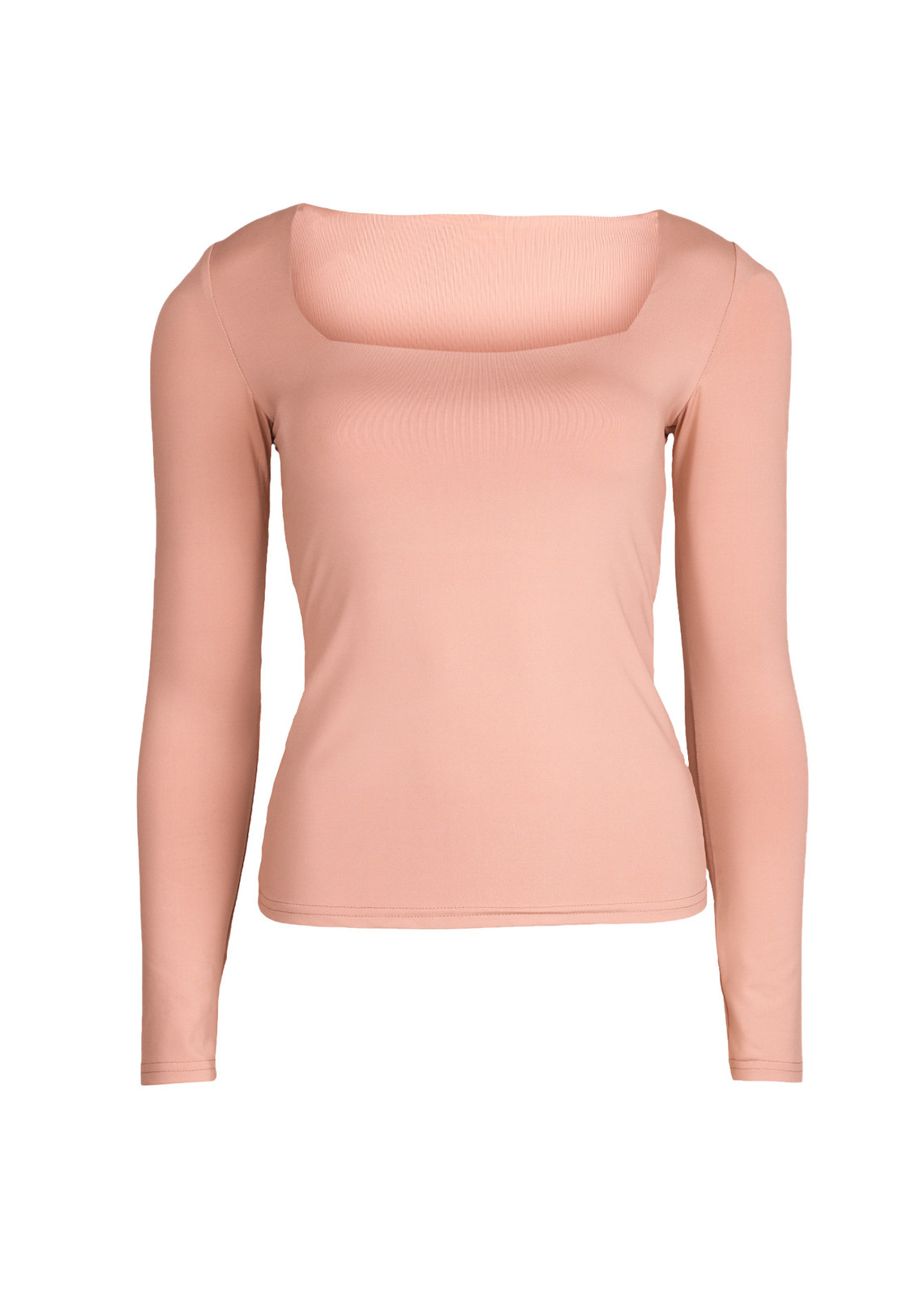 Basic stretch top Daisy peach