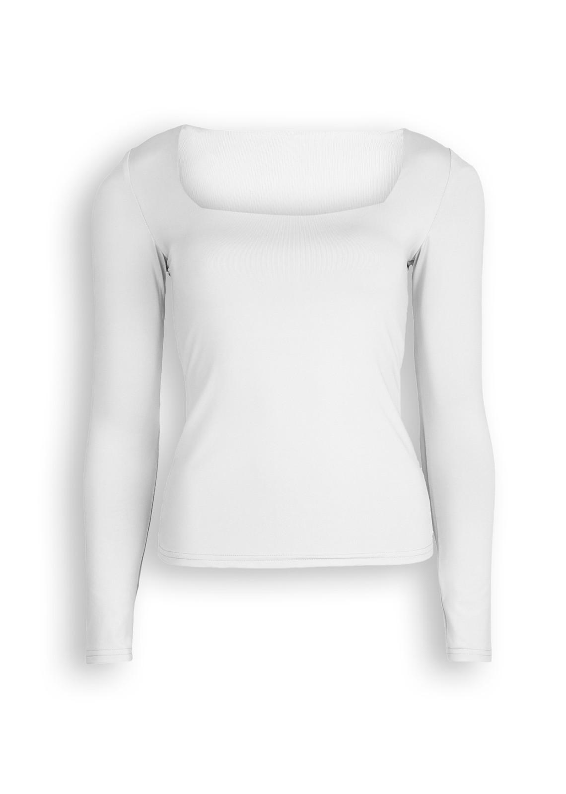 Basic stretch top Daisy white