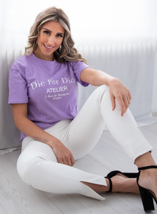 Die for shirt lila