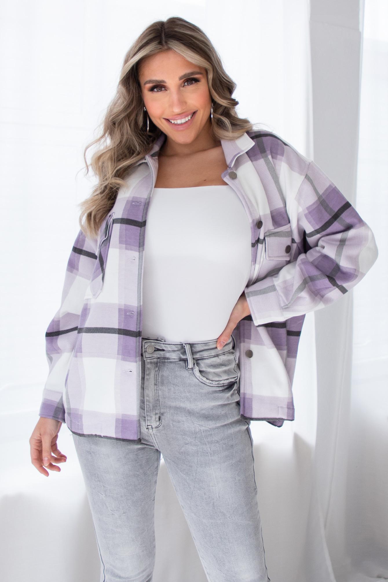 Tartan blouse Gabi lila