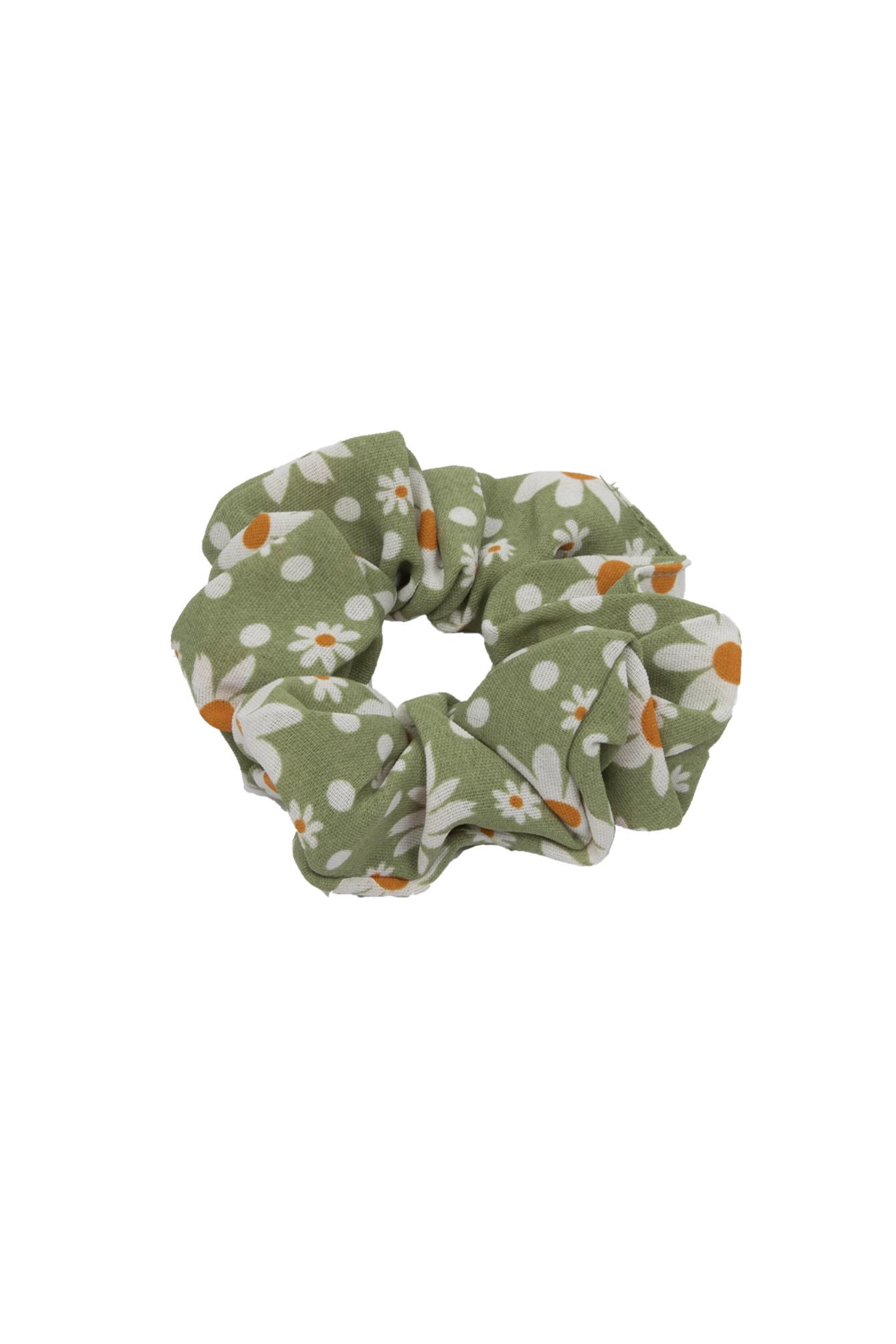 Scrunchie Flower green