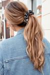 Scrunchie Flower black