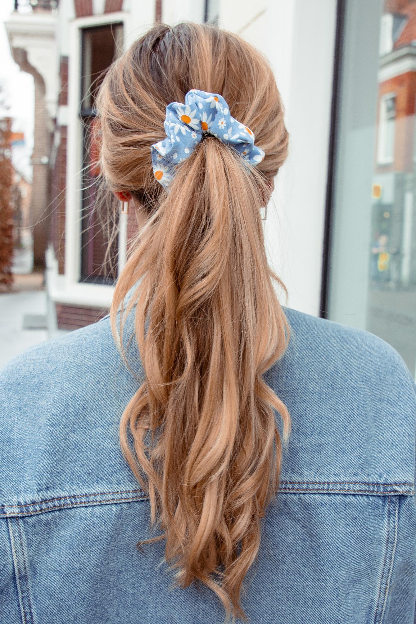 Scrunchie Flower blue
