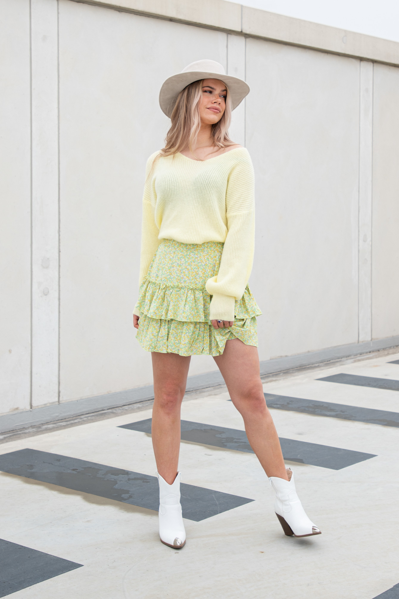Flower rok Laila groen