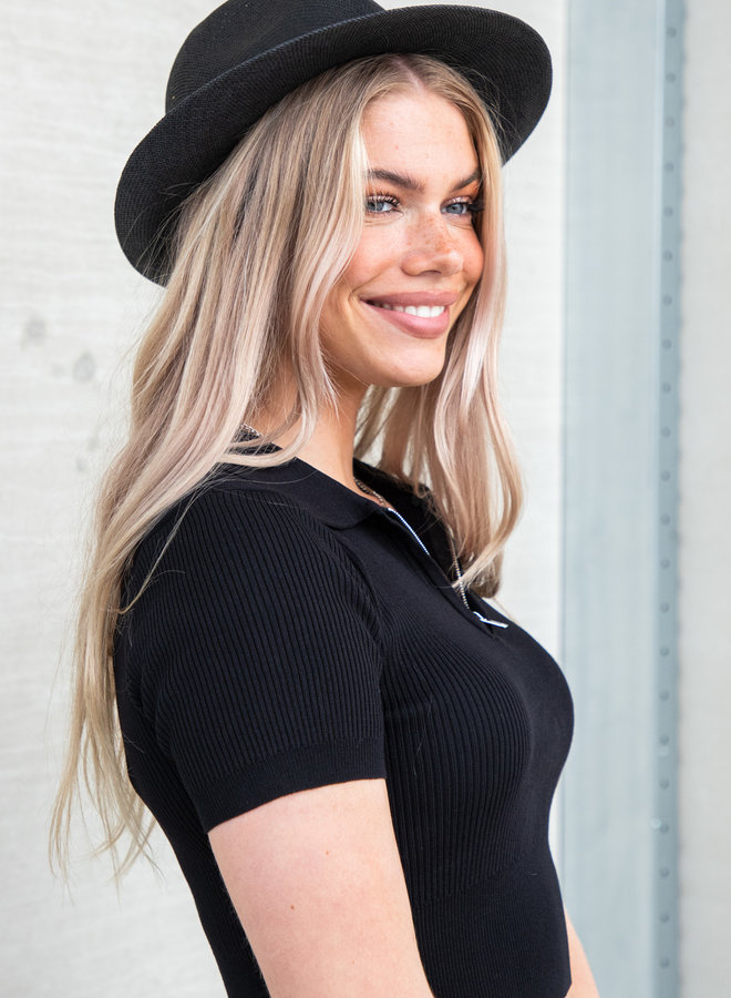 Basic top Pam zwart