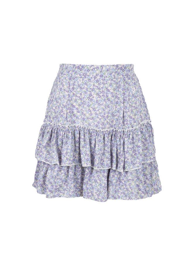 Flower rok Laila blauw