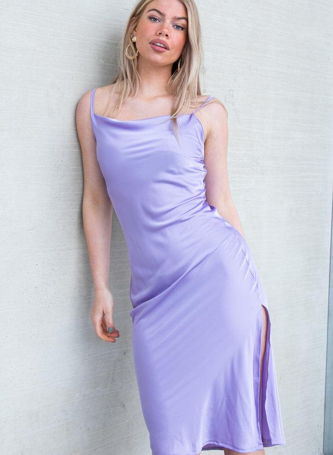 Satin dress lila