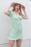 Flower dress Kim green