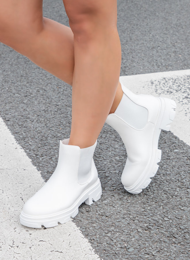 Biker boots Kiera wit