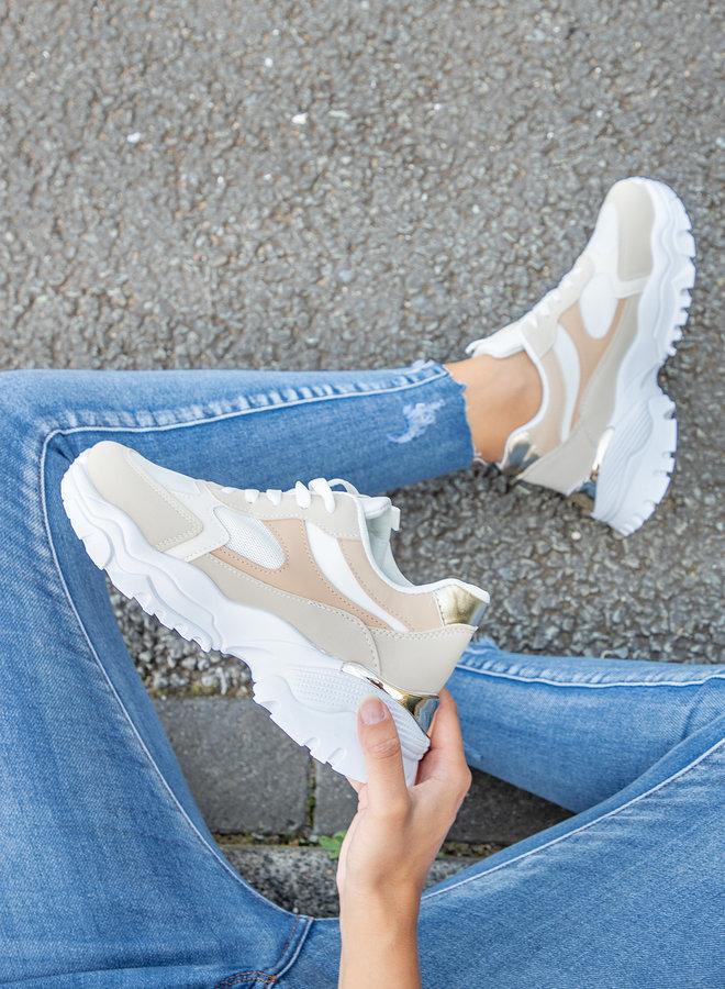 Dad sneaker Lauren beige