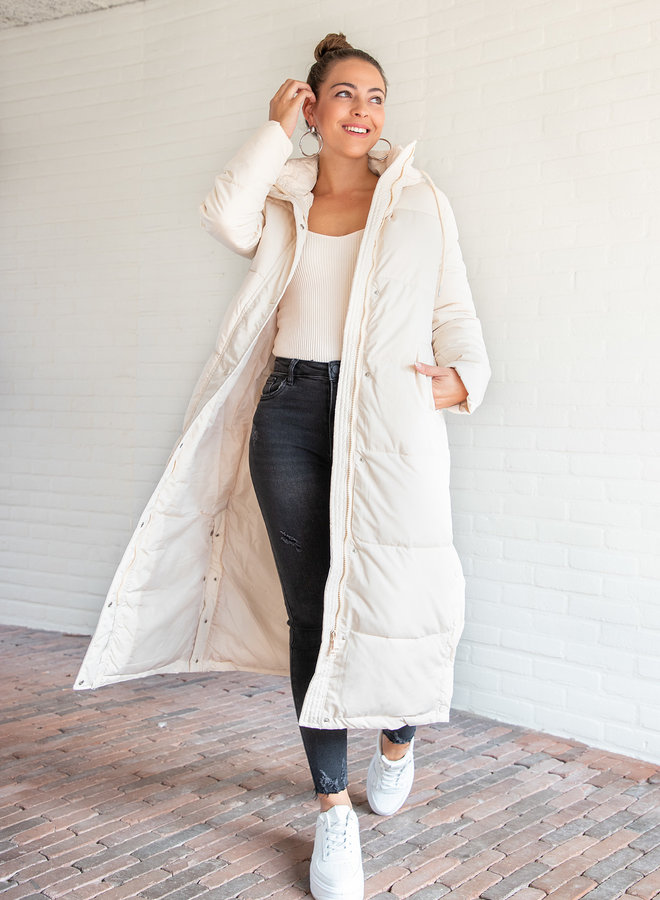 Puffer coat Daisy off white