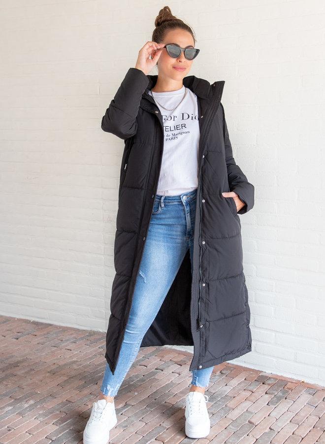 Puffer coat Daisy zwart