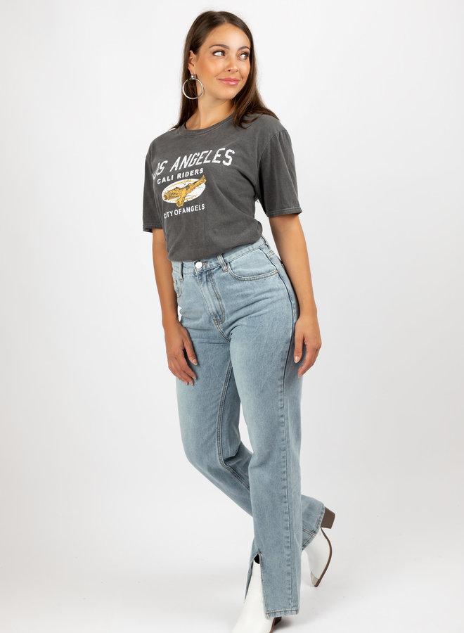 T-shirt Los Angeles grijs
