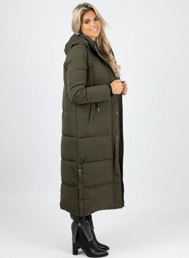 Puffer coat Daisy kaki