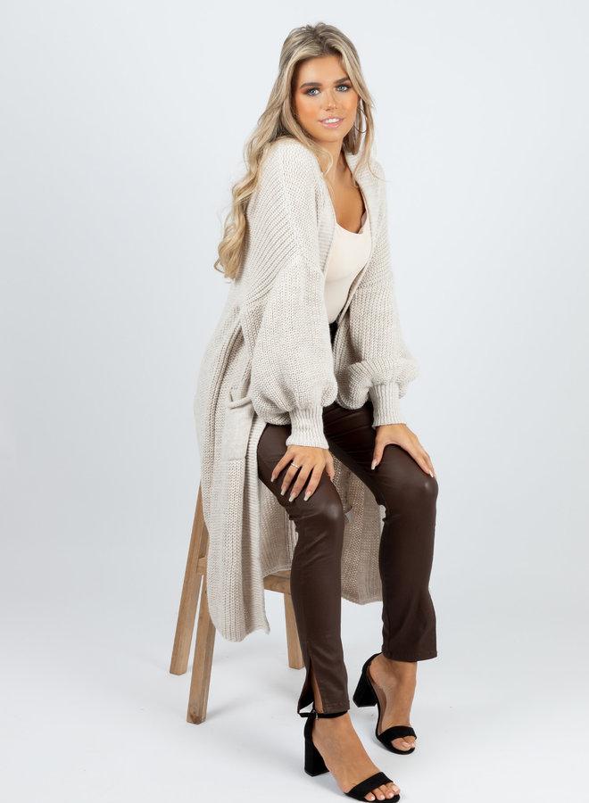 Long knit Jennie beige