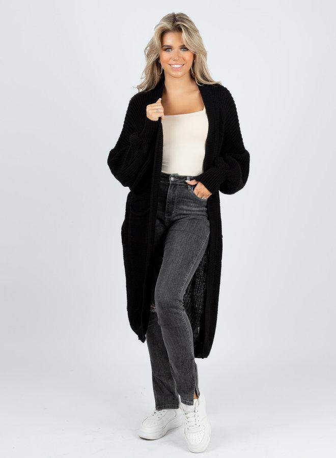 Long knit Jennie zwart
