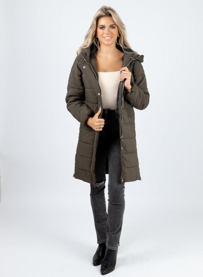 Puffer coat Naomi kaki