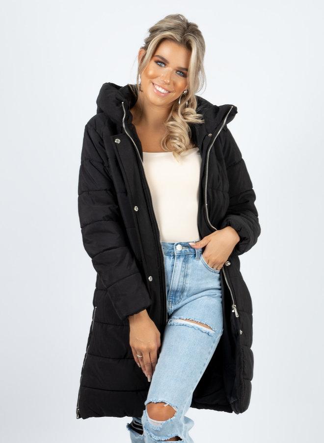 Puffer coat Naomi zwart