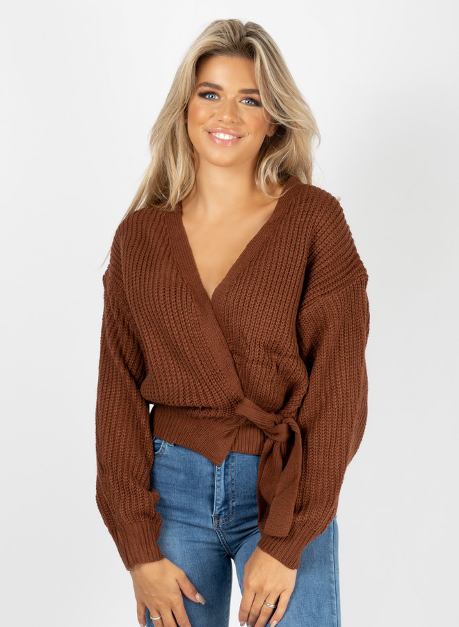 Wrap knit Jazz bruin
