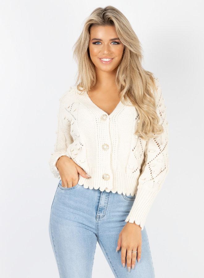 Button knit Kiandra  beige