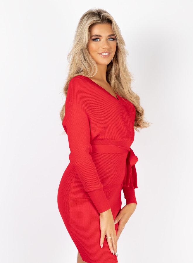 Dress Tara rood