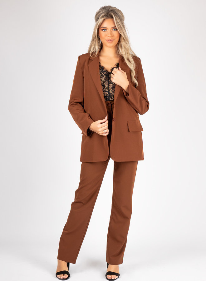 Pantalon Lara bruin