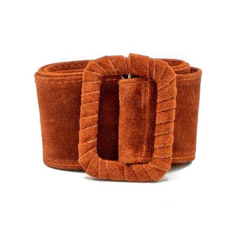 Linda - Suede - Belts with buckles - Rust - 61