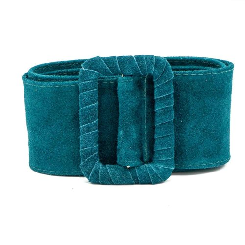 Linda - Suede - Belts with buckles - Petrol - 26