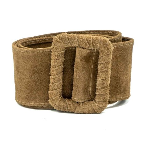 Linda - Suede - Belts with buckles - Taupe - 24