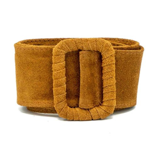 Linda - Suede - Belts with buckles - Brown - 6