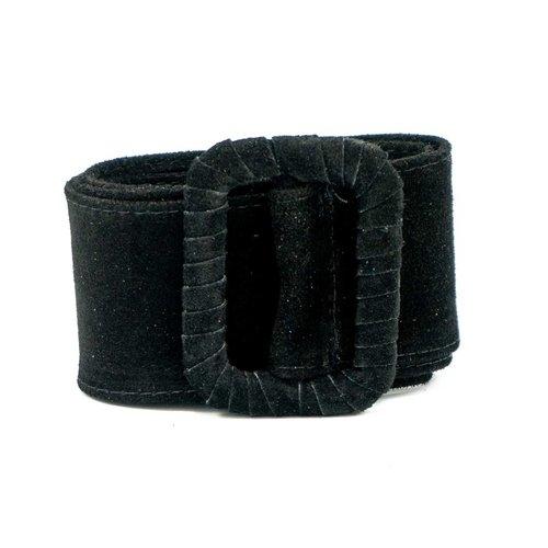 Linda - Suede - Belts with buckles - Black - 23