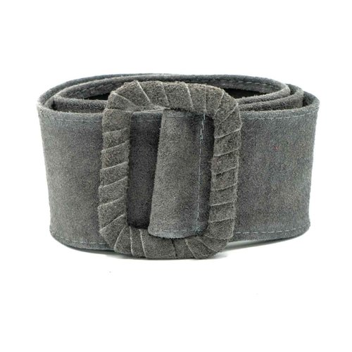 Linda - Suede - Belts with buckles - Grey - 20
