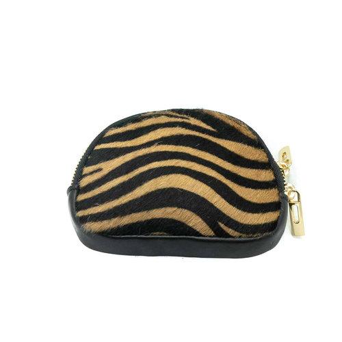 Lia - Vacht - Pouches - Zwart - Zebra