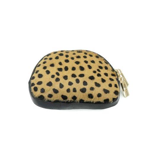 Lia - Vacht - Pouches - Zwart - Cheetah