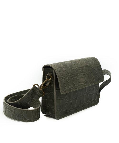 Sophie - Croco - Crossbody bags - Green - 49