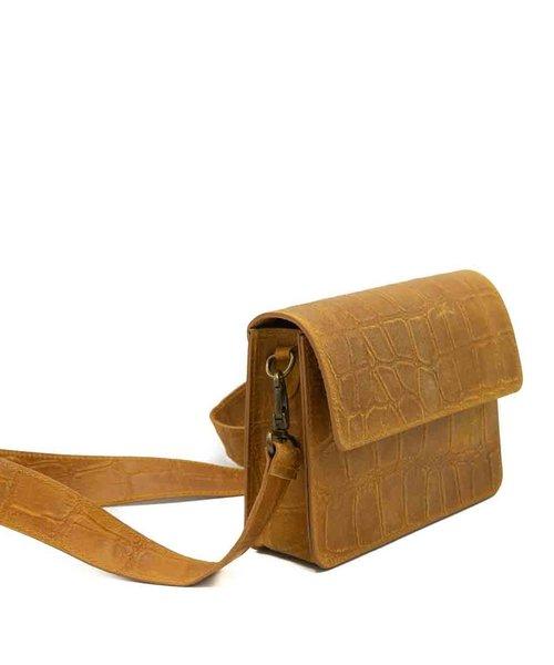 Sophie - Croco - Crossbody bags - Yellow - 44