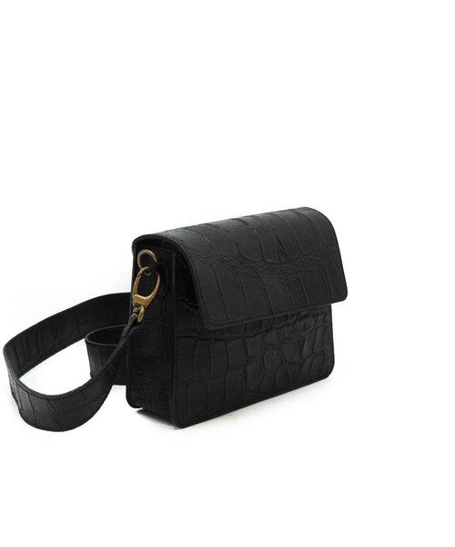 Sophie - Croco - Crossbody bags - Black - 23