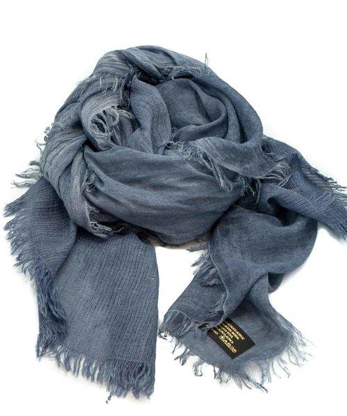 Hayley -  - Effen sjaals - Blauw - Donker