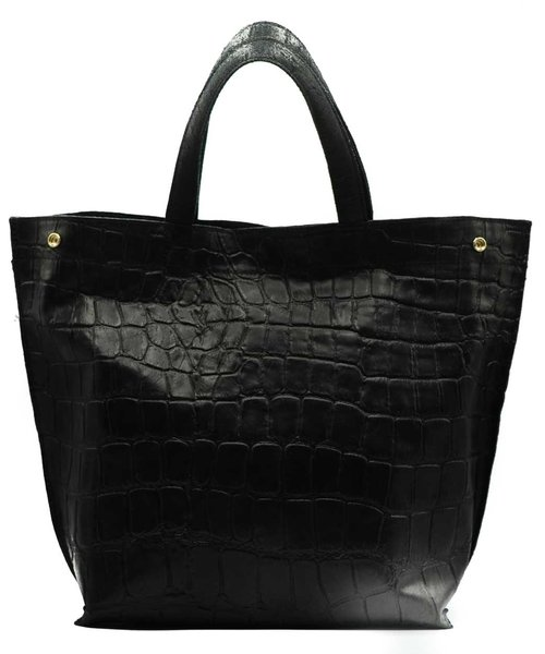 Rosa - Croco - Shoulder bags - Black - 23