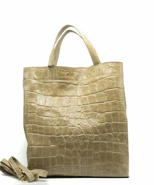 Rosa - Croco - Shoulder bags - Beige - 4