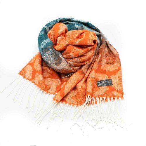 Tina -  - Sjaals met print - Oranje -