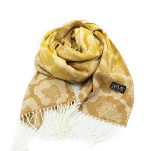 Tina -  - Sjaals met print - Geel -