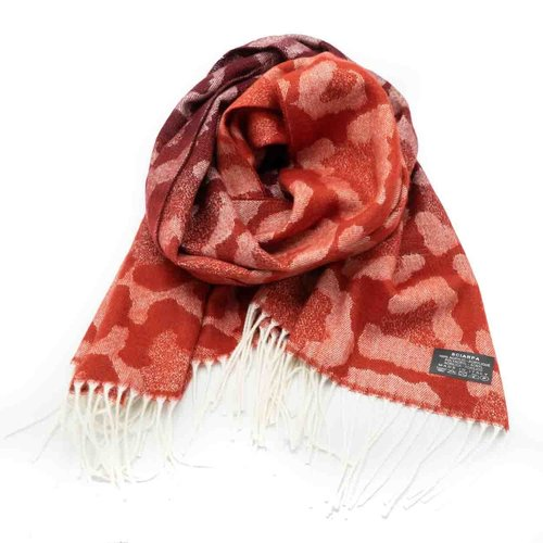 Tina -  - Sjaals met print - Rood -