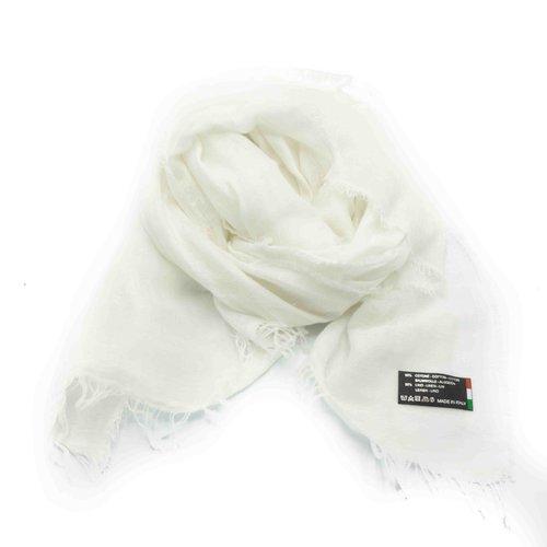 Julia -  - Effen sjaals - Wit - Bianco