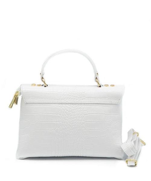 Giselle - Croco - Hand bags - White -