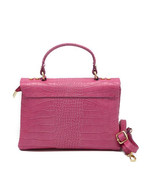 Giselle - Croco - Hand bags - Pink - Fuchsia