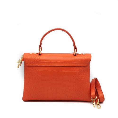Giselle - Croco - Handtassen - Oranje -