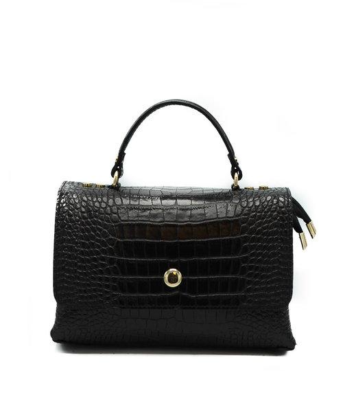 Giselle - Croco - Hand bags - Black -